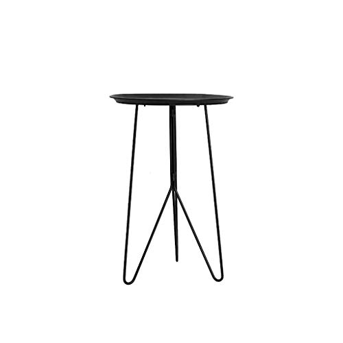 Round Bijzettafeltjes Moderne Minimalistische Iron Koffietafel for Sofa Living Room Balcony Side Table Black 16,53 x 24,8 inch (Color : Black, Size : 16.53 × 24.8 Inches)