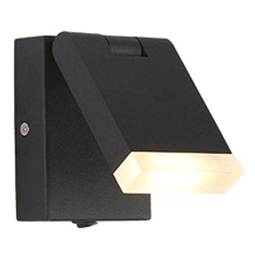 WYDM Lámpara De Pared,Apliques De Pared Rectangular Lámpara De Pared De Metal Plegable Fuente De Luz COB Interruptor De Botón, Adecuado para Sala De Estar Dormitorio Sala De Estudio Comedor