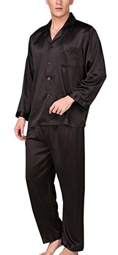 AIEOE - Traje de Dormir para Hombre Pijama Manga Larga de