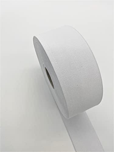 Gummiband 3 m Kleidung und Haushalt DIY Handwerk 3 Meter, 5 cm in breit in Schwarz oder Weis (Weis)