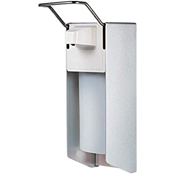 Desinfektionsmittelspender Dispenser Pumpspender Aluminium 500ml Leerflasche Eurospender Wandbefestigung allpremio Seifenspender Set inkl Wand-Spender 500 ml Desinfektionsspender