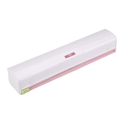 Cortador de film transparente, dispensador de papel de plástico para alimentos y almacenamiento para cocina
