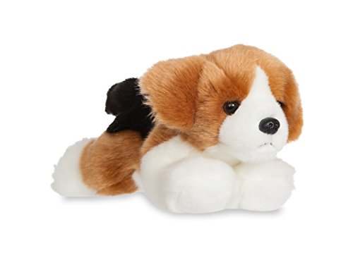 Aurora- Beagle de Peluche, colección Luv to Cuddle, Color Blanco y marrón, 20 cm (0060060703)