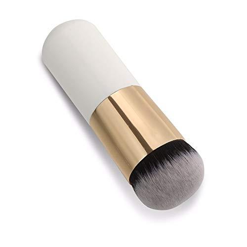 LAAT Pinceau Maquillage Professionnel Kabuki outil Cosmétique Brosse du Visage pour le fond de teint Liquide et poudre-Blanc