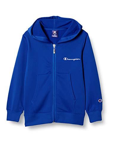 [チャンピオン] パーカー 綿100% 吸水速乾 スクリプトロゴ フルジップフードスウェットシャツ ボーイズ スポーツ CK-TS101 ブルー 160