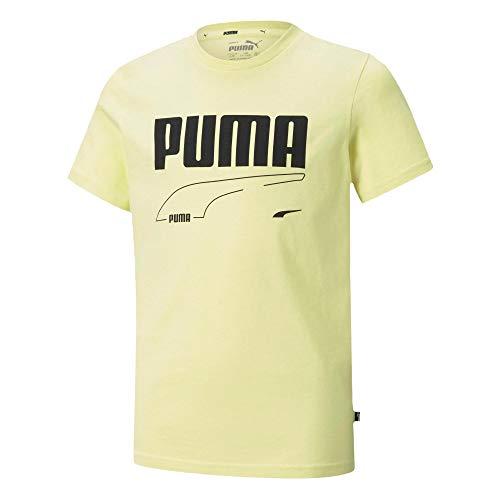 PUMHB #Puma Rebel Tee B, Maglietta Bambino, Yellow Pear, 116