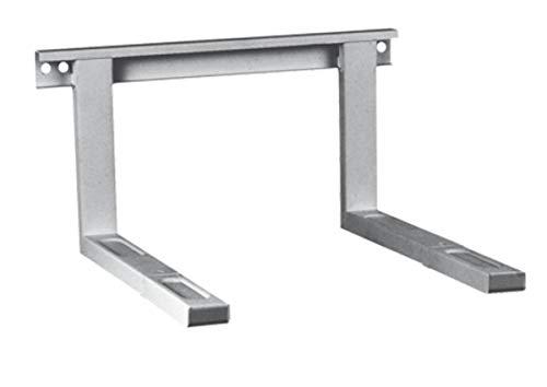 Mikrowellenhalterung Mikrowellen Halter Wandhalterung Farbe silber bis 35 kg ausziehbar 38,5 x 51 cm inkl. Montagematerial Grillofen Mikrowellenhalter Regal Wand