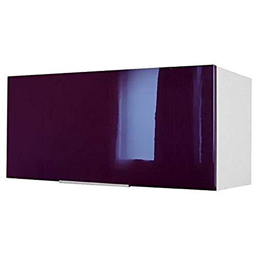 Berlioz Creations - Mueble Alto de Cocina sobre Campana extractora, Berenjena Brillante, 80 x 34 x 35 cm