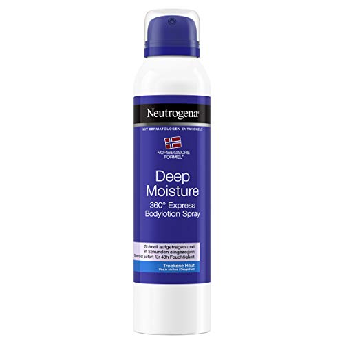 Neutrogena Deep Moisture Express Bodylotion Spray, Körpercreme, Trockene Haut, 200 ml