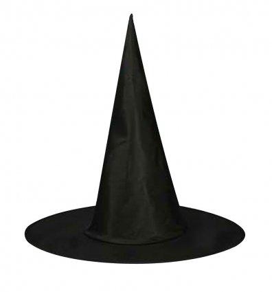 Halloween pour adulte Unisexe Costume-Sorcière en Satin longueur Style Chapeau Noir 16 \