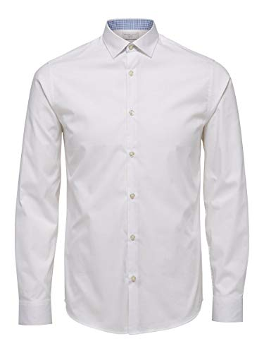 SELECTED HOMME Male Hemd Slim-Fit- LBright White 1
