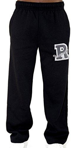 REDRUM Jogginghose Sweatpants Sport Hose Schwarz o Grau - Modell Roma (XXL, Schwarz)