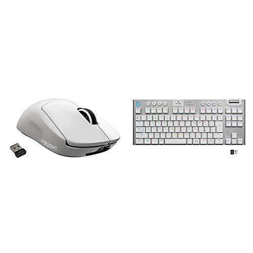 【ホワイト セット】Logicool G ゲーミングマウス GPRO SUPERLIGHT+テンキーレス ゲーミングキーボード G913 TKL