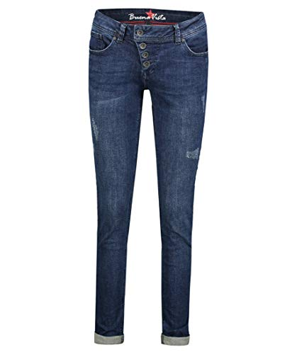 Buena Vista - Dames jeans broek Malibu Stretch Denim Middle Blue