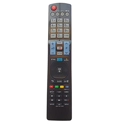 Pumprout Mando a Distancia, Mando a Distancia Universal 3D LCD, Mando a Distancia de televisión de Repuesto de plástico para LG AKB73615303, Caja Superior