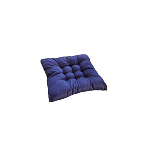 VOSAREA Chair Pads Chair Seat Pads Cushion for Indoor Dining Home Car Sofa Office Kitchen Decoration (Navy Blue)