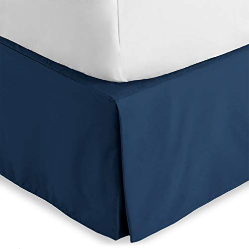 Bare Home Bed Skirt Double Brushed Premium Microfiber, 15-Inch Tailored Drop Pleated Dust Ruffle, 1800 Ultra-Soft Collection, Shrink and Fade...