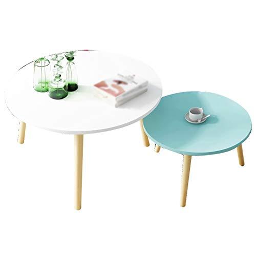 CSQ Tweedelige set massief houten tafelpoten kunst tafel huishouden restaurant kledingwinkel decoratieve salontafel