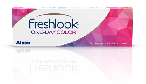 FreshLook One-Day Lentillas diarias, color Blue, Pack de 10, R 8.6 mm, D 13.8 mm, 0.00 Diopt