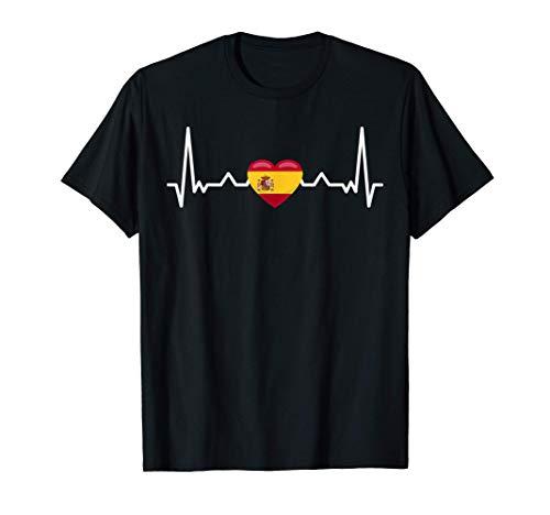 Il mio cuore batte per la Spagna - Bandiera del Paese Maglietta