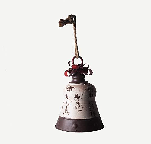 Keyhome Campana de Metal Decorativa – Campanilla con Lazo para Colgar – Campanilla de Navidad decoración...