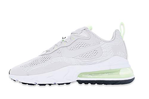 Nike Damen WMNS Air Max 270 React Laufschuh, Vast Grey/Vast Grey-Ghost Green-White, 38 EU