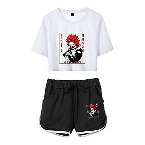 My Hero Academia Chándal Kirishima Eijiro Shoto Camiseta de Manga Corta y...