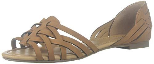 J. Adams Wendi Woven Flat – Comfortable Casual Strappy Peep Toe D'Orsay Sandal