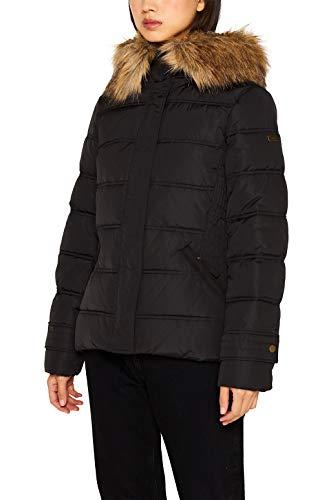 ESPRIT Damen 099Ee1G003 Jacke, Schwarz (Black 001), Large (Herstellergröße: L)
