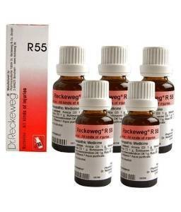 5 x Dr.Reckeweg-Germany R55- Injuries, Healing Drops. .