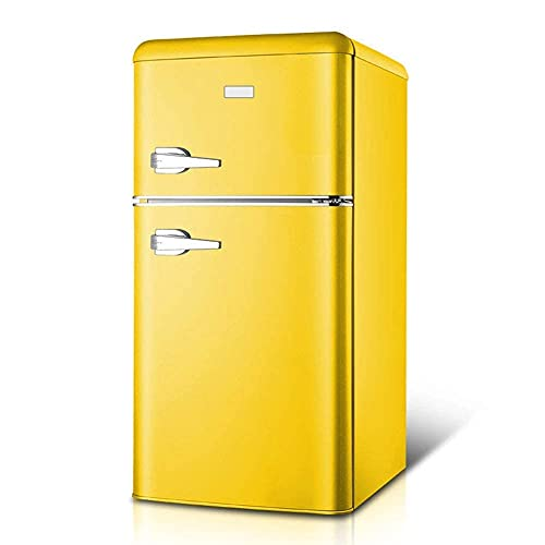 H.Slay SHKUU Freistehender Gefrierschrank Mit Griff Doppeltür Kühlschrank Temperaturregelung 74L Kapazität 44L Gefrierkapazität Mit Kühlbox 90cm