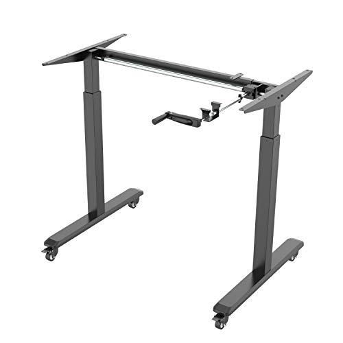 SGBüro N-B Höhenverstellbarer Schreibtisch mit Rollen, verstellbares Tischgestell für...