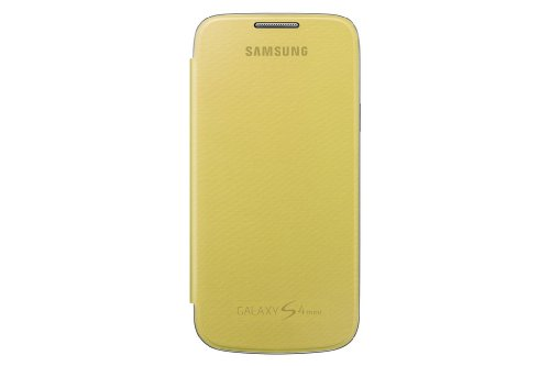 Samsung Hülle Schutzhülle Clip-On Flip Hülle Cover für Samsung Galaxy S4 Mini - Gelb
