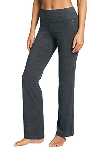 Jockey Women's Activewear Cotton Stretch Slim Bootleg Pant, Charcoal Grey Heather, XLP