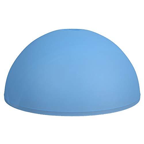 Lámpara colgante de cristal de 350 mm de diámetro, cristal de repuesto azul, redondo, cristal opalino E27