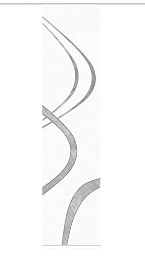 Vision S Schiebegardine TIBANO rechts, halb-transparenter Stoff in Bambus-Optik, 260 x 60 cm (h x b), Farbe: (grau)