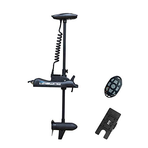 AQUOS Haswing Black 12V 55LBS 48inch Bow Mount Trolling Motor with Wireless...