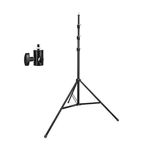 UTEBIT 3.6M Lampenstativ 12 FT Aluminiumlegierung Lichtstativ Höhenverstellbar 100cm bis 360cm Leuchtenstativ Set mit 1/4 Adapter Max Belastung 15kg für Video, Porträt und Fotografie Beleuchtung