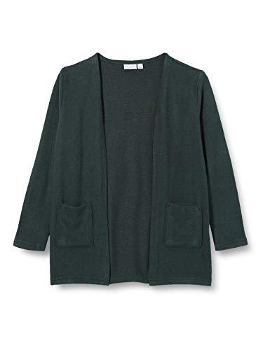 NAME IT Mädchen NKFVICTI LS Knit Card L Cardigan, Darkest Spruce, 134-140