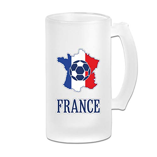 France Soccer Shirt Football Team Jersey Fan Gift Frosted Beer Mugs Glass,Frosted Glass Beer Mugs,Frosted Beer Mug
