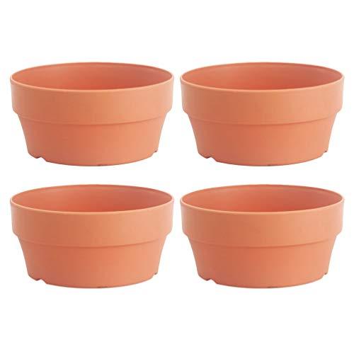 Cabilock - Set di 4 vasi da fiori in plastica per piante grasse, cactus, con foro di drenaggio, per interni ed esterni, matrimoni, regali