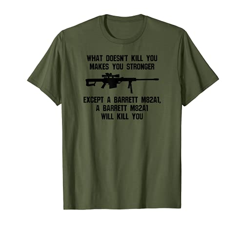 Barrett M82A1 50 Cal - Rifle de francotirador táctico militar Camiseta