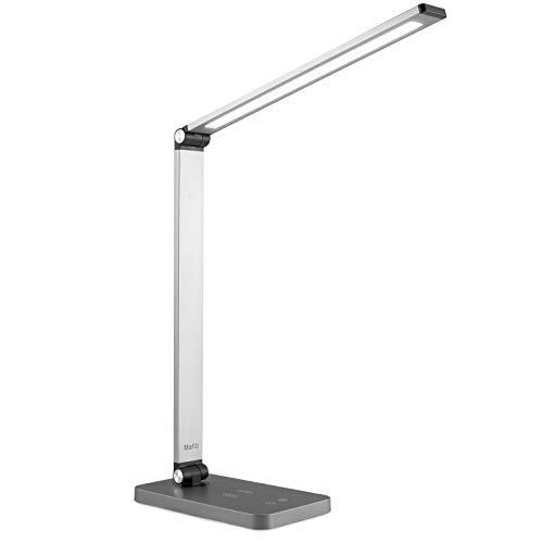 Mafiti Lámpara de escritorio, Lámpara de Mesa plegable Luz (5 * 3 modos de brillo) Lámpara para leer, estudiar, trabajar y protege a los ojos.