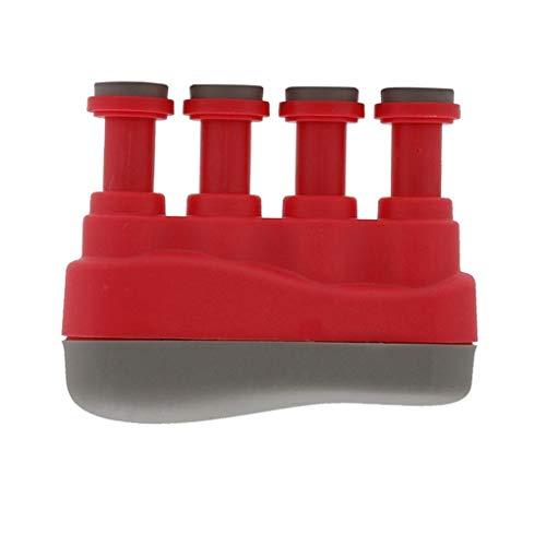 nobrand Gitarren-Finger-Trainings-Werkzeug Klavier-Praxis Guzheng Grip Instrument Musical Finger Trainingsmaschine für Anfänger,Rot,3 Pfund