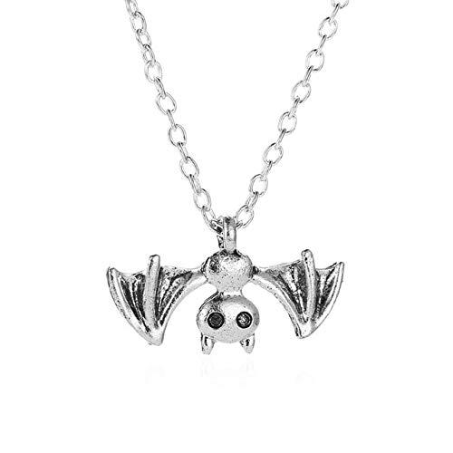 Creative femmes chauve-souris pendentif collier Punk hommes pull chaîne accessoires mode Halloween bijoux cadeaux2