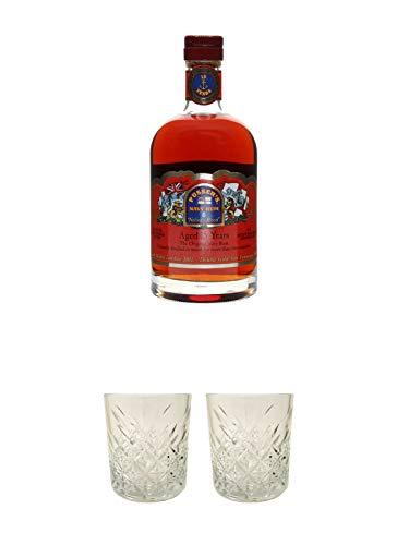 Pussers Navy Rum 15 Jahre Virgin Islands 0,7 Liter neue Flaschen Form + Rum Glas 1 Stück + Rum Glas 1 Stück