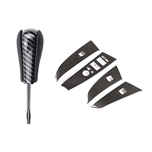 Agnus Knob Mayús del engranaje se ajusta a BMW E36 E38 E39 E46 Z4 Z3 E53 X5 X3 E60 E61 Marco del botón del interruptor de la palanca larga de la palanca