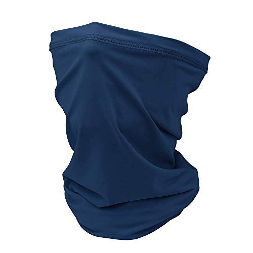 GARSCEN YORC UPF 50+ UV Protection Face Mask Bandana Multifunctional Breathable Windproof Neck Gaiters Headbands for Fishing Hunting Skiing Sports Unisex (Navy Blue)