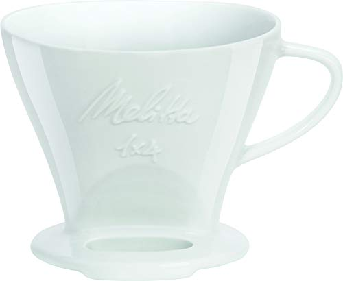 Melitta 219025 Filter Porzellan Kaffeefilter Größe 1x4 Weiß