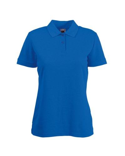 FRUIT OF THE LOOM Damen Poloshirt aus Piqué, Größe S-XXL, 9 Farben Gr. 5 Jahre, königsblau